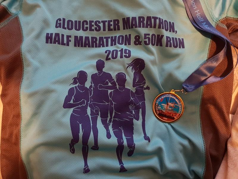 Gloucester Half Marathon T-shirt and Medal 2