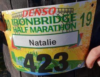 Ironbridge Half Marathon Race Number