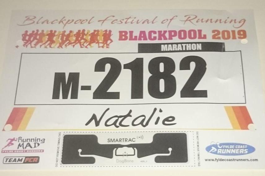 Blackpool Marathon 2019 Race Number