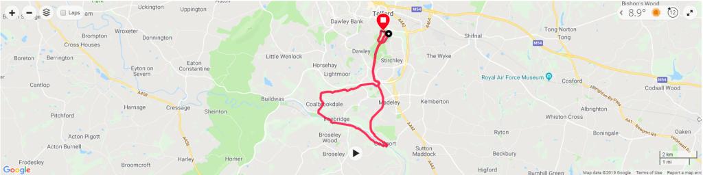 Ironbridge Half Marathon Map